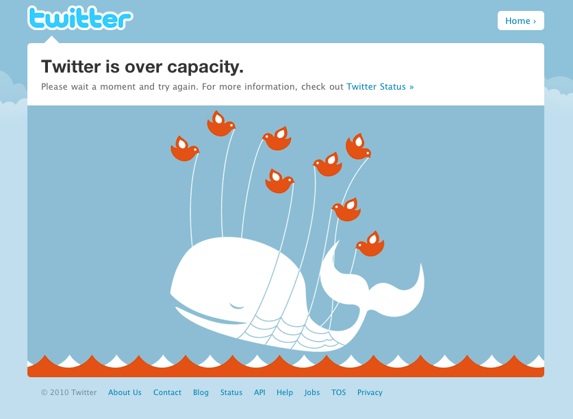 Twitter Over Capaticy